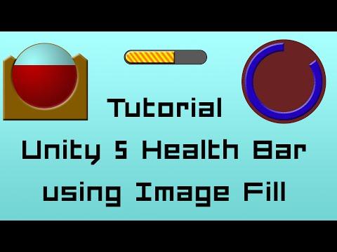 Unity 5 Tutorial: Easy Health Bar C# - using filled Imagetype thumbnail
