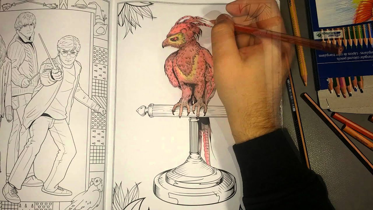 Harry Potter (coloring book) Phoenix - YouTube