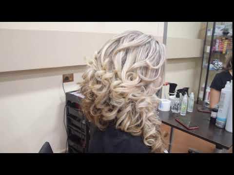 Греческая коса на бок из длинных волос в Туле