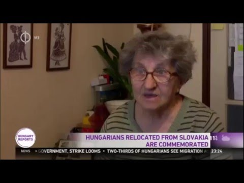 Hungarians Deported From Slovakia Commemorated