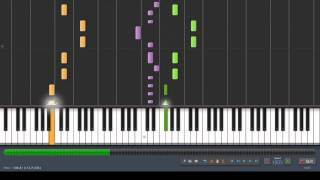 David Guetta - Sexy Bitch Piano Tutorial (Synthesia)