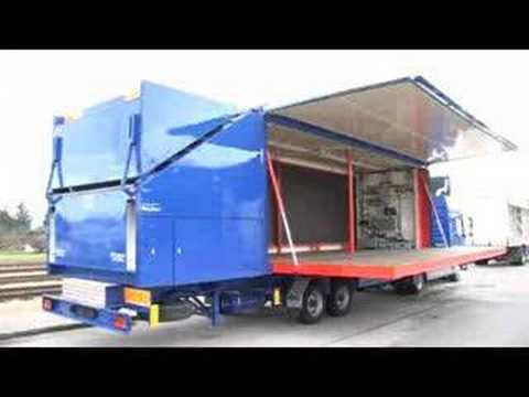 mobile kitchen trailer wine racks showtruck, showbox, event truck, wingliner - youtube