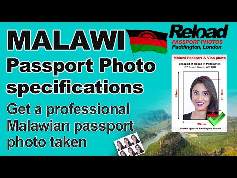 Malawi Passport Photo and Visa Photo snapped in Paddington, Londo