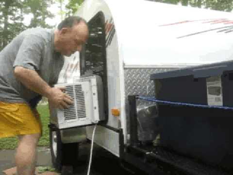 & AC solution for teardrop camper - YouTube
