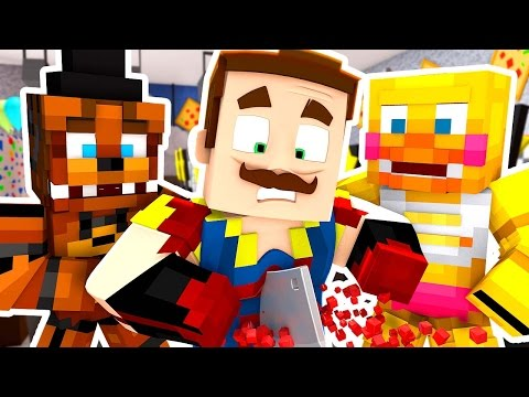 FNAF KILLED THE NEIGHBOR!?   Hello Neighbor Minecraft Roleplay