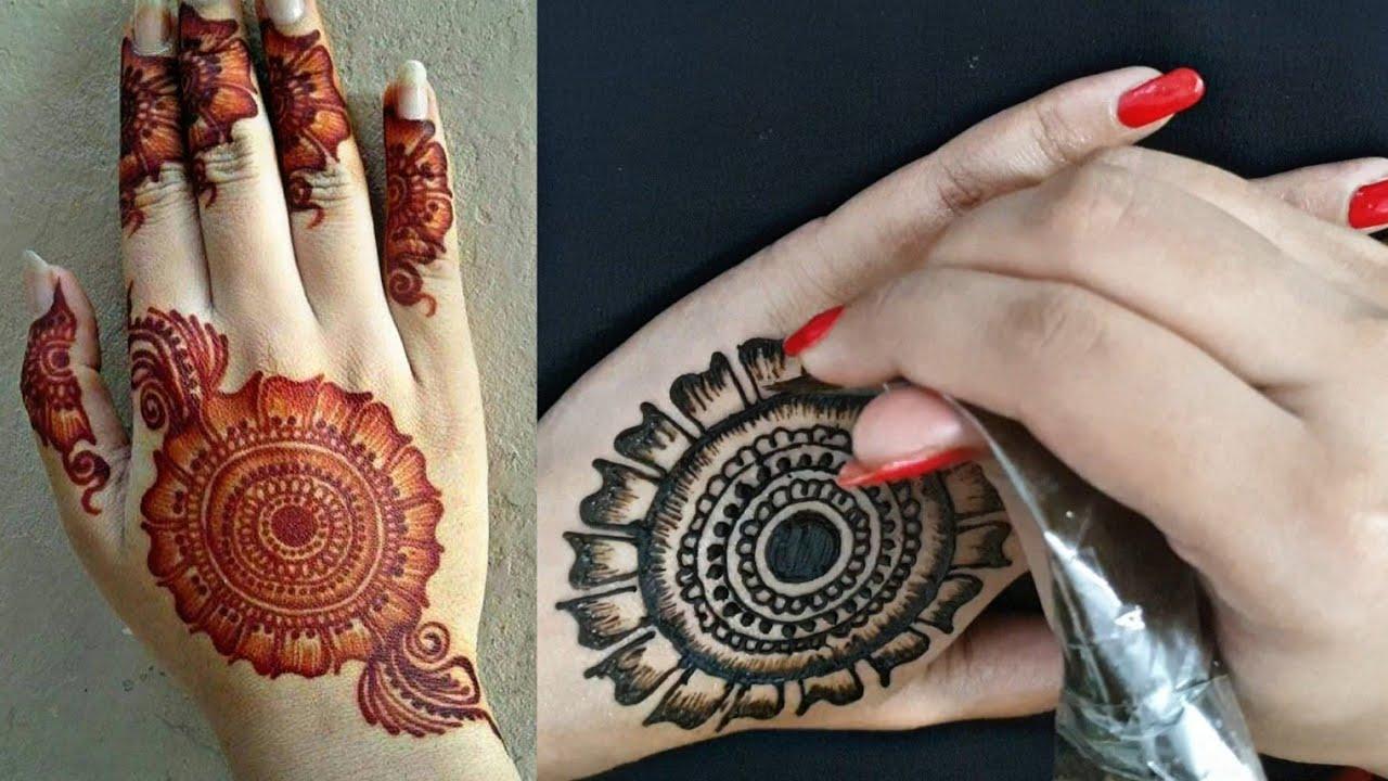 Latest Flower Floral Mehndi Design Easy Shaded Mehndi Design