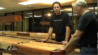 Hudson Shuffleboards explains how to properly setup and install a shuffleboard table.