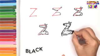 How To Draw and Color a Zebra Easy Steps By Step ✅How To Teach Baby To Speak English