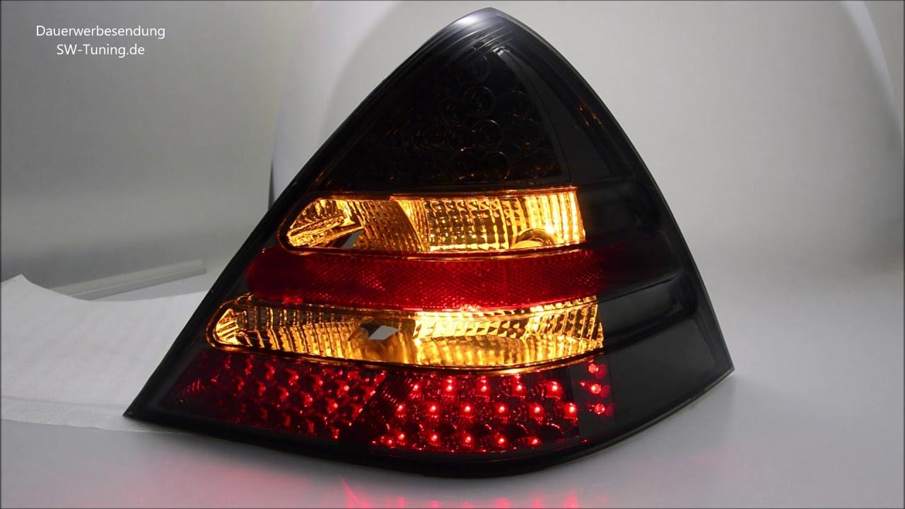 Sw Light Led Rückleuchten Für Mercedes Benz Slk R170 96 04 Smoke Sw Tuning Youtube
