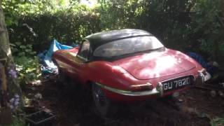 Jaguar Etype find to be auctioned at H&H Duxford sale