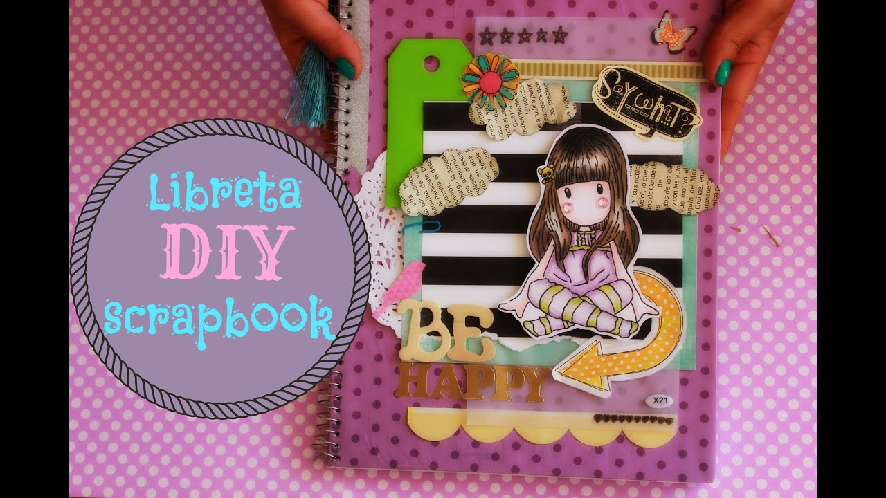 Diy como decorar y personalizar una libreta scrapbook for Como decorar tu porche
