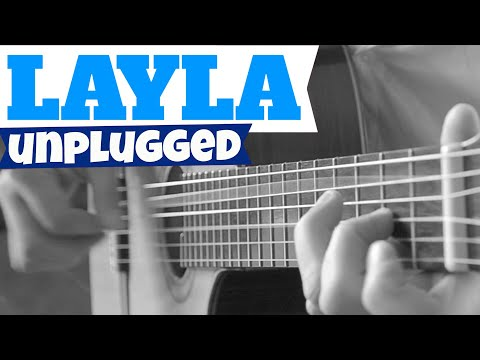 Eric Clapton LAYLA UNPLUGGED TAB Acoustic Fingerstyle Guitar Solo Cover Lesson