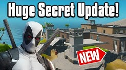 All The New Changes From The SECRET Update! - Fortnite Battle Royale