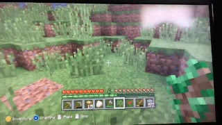 Minecraft Xbox 360 gathering materials for the new house