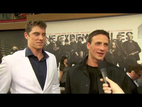 Conor Dwyer & Ryan Lochte at The Expendables 2 Premiere! [HD]