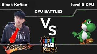 Ep20 Brawl Black Koffee(Donkey Kong) vs Level 9 CPU(Yoshi)