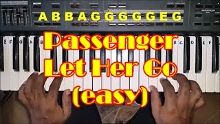 How to Play Let Her Go by Passenger on Piano - Easy Piano Tutorial Mp3