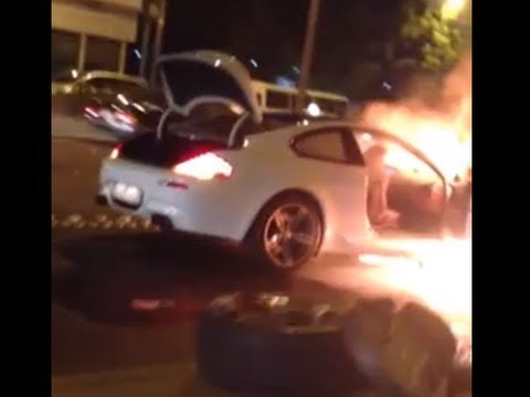Merveilleux New BMW M6 Catches Fire On A Highway