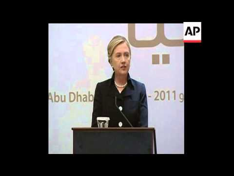 "Secretary of State Hillary Rodham Clinton says she is aware of ""numerous and continuing"" overtures b"