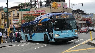 (2) & (5) Train Shuttle Bus Action In The Bronx