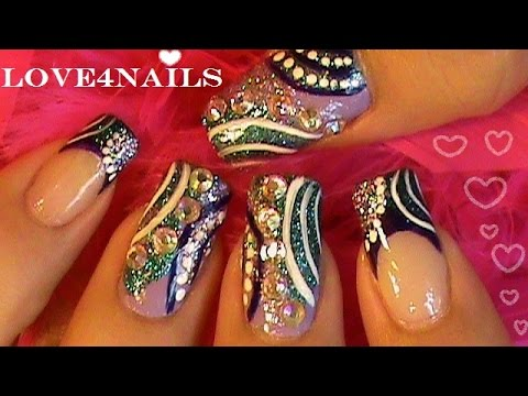 Bling Crystal Nail Art Design Tutorial