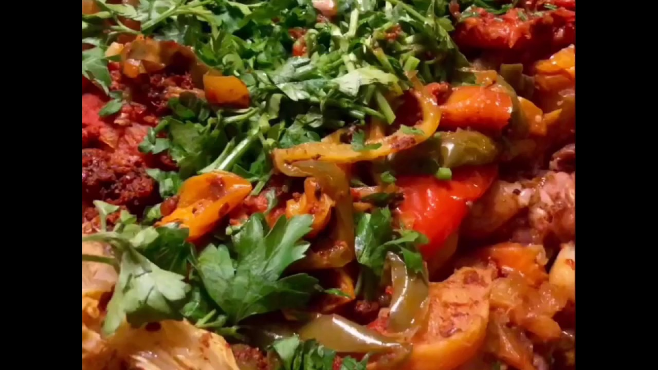 Басма из сочной баранины и свежих овощей