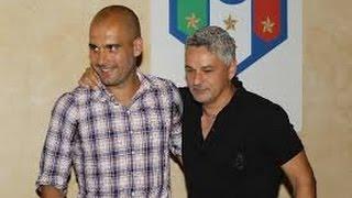 Baggio  incontra Guardiola