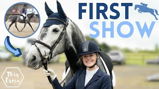 First Show with My New Horse! Show Jumping + Dressage AD   This Esme