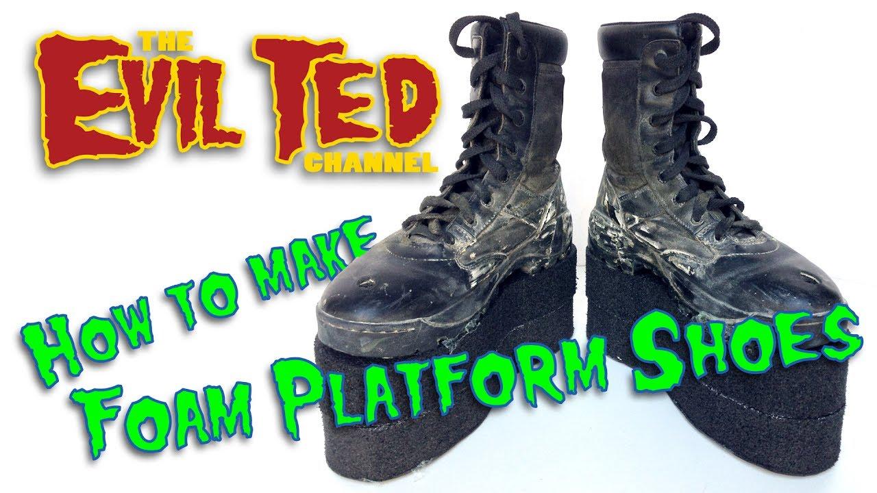 How To Make Foam Platform Shoes. - YouTube