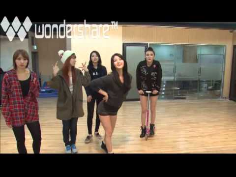 EXID in practice room + funny dance version of EVERY NIGHT [1/2] 121019