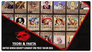 Daftar Semua Bounty Lengkap One Piece (AMV)