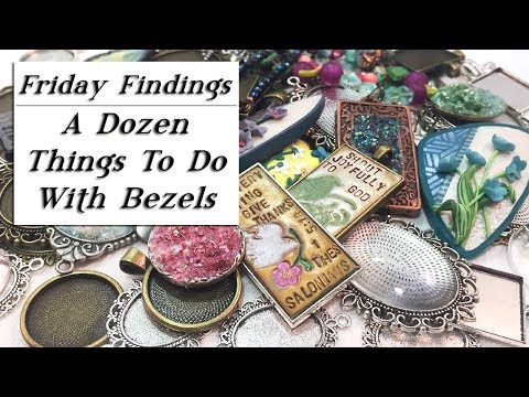 A Dozen Ways to Fill A Bezel-12 Creative Ideas for Using Bezels in Jewelry-Friday Findings