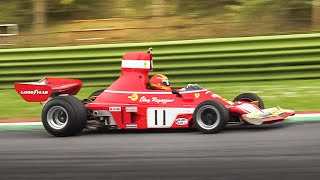 Ferrari 312 B3-74 F1 Car at Imola Circuit: 3.0L Flat-12 Engine Sound!