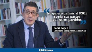 """Patxi López: """"Yo no quiero definir al PSOE según sus pactos con otros partidos"""""""