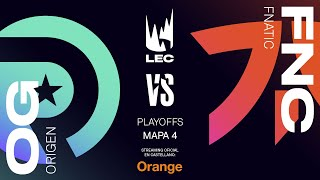 FNATIC vs ORIGEN | LEC Spring split 2020 | Final Game 4 | League of Legends