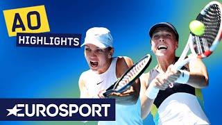 Simona Halep vs Anett Kontaveit Highlights | Australian Open 2020 Semi-Finals | Eurosport