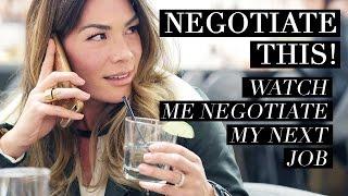 NEGOTIATE THIS! Watch Me Negotiate My Next Job