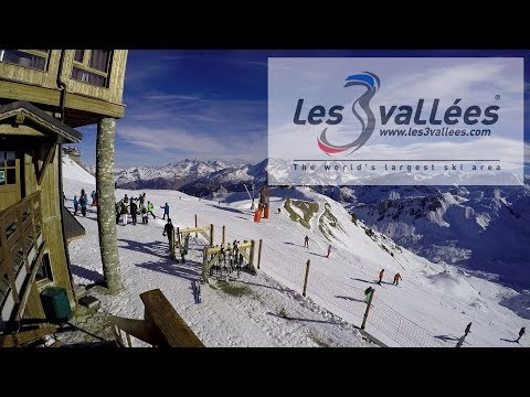 France - 3 Valleys Ski Area (Les Trois Vallées) (Dec 2016) - The Best Skiing Ever! - Day 1
