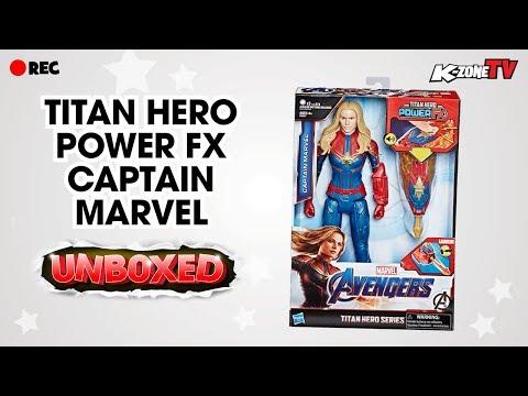 Unboxing Marvel Avengers Captain Marvel Titans Hero Power FX   K-Zone TV