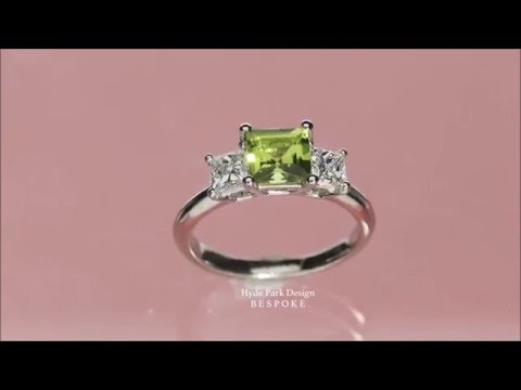 Yellow Princess Cut Diamond Trilogy Engagement Ring - Made in London