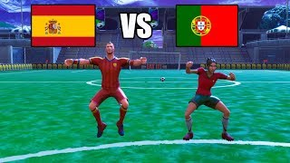 Spanien vs Portugal | Fortnite Fußball WM 2018
