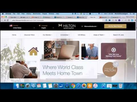 $14hr Work@Home Hilton Hotels