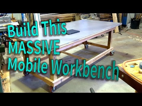 Build a massive mobile workbench / assembly table - Easy to make workbench in one day!