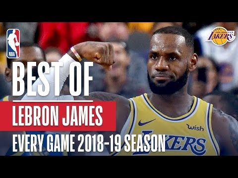 LeBron James' Best Play From Every Game Of The 2018-2019 Season thumbnail