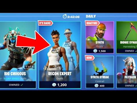 New RECON EXPERT In ITEM SHOP!! (Fortnite Battle Royale)