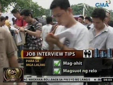 24 Oras: Tips para sa job interview