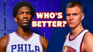 Joel Embiid or Kristaps Porzingis? Should KP Be STARTING in the ALL STAR GAME?