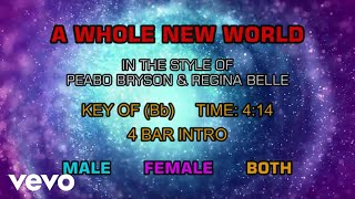 Peabo Bryson & Regina Belle - A Whole New World (Aladdin's Theme) (Karaoke)