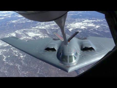 KC-135 Stratotanker Refueling B-2 Spirit Stealth Bomber