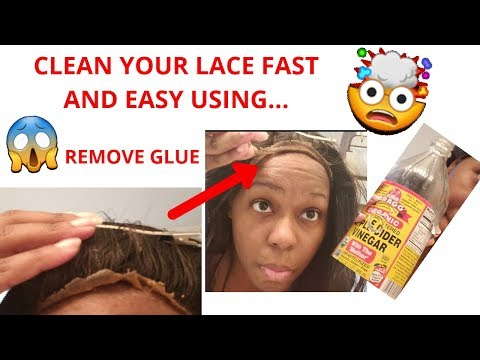 How To Remove Glue From Lace Front Without Damage Using Apple Cider Vinegar?